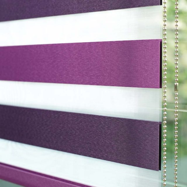 Lexi Plum Duplex Blinds