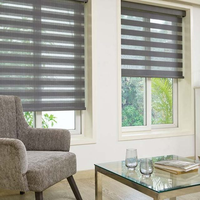 Nyla Charcoal Duplex Blinds
