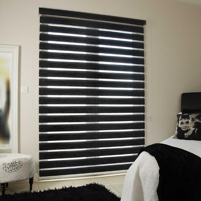 Reagan Noir duplex blinds