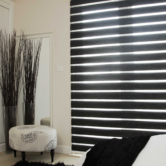 Reagan Noir duplex blinds