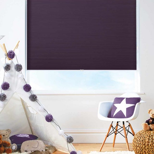 Darby Plum Honeycomb Blinds