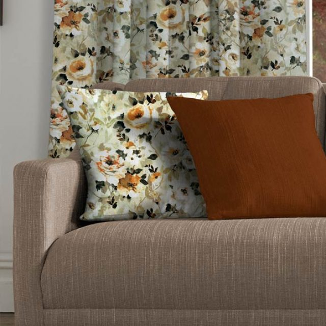 Floral Papaya & Silky Spice Cushions