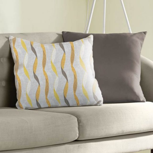 Ribbon Dijon Cushion