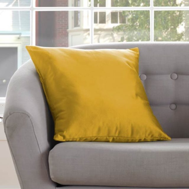 Plains Mustard Cushion