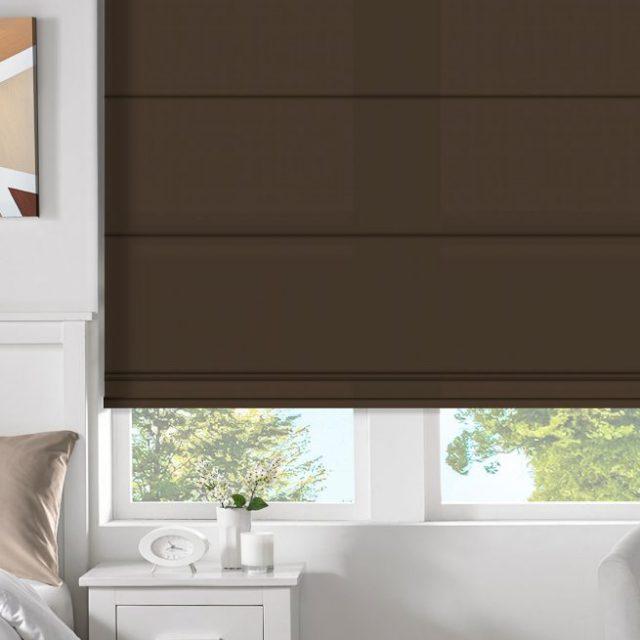 Chelsea Brown romex blinds