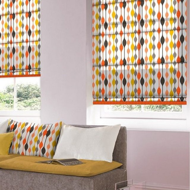 Curve Coral romex blinds