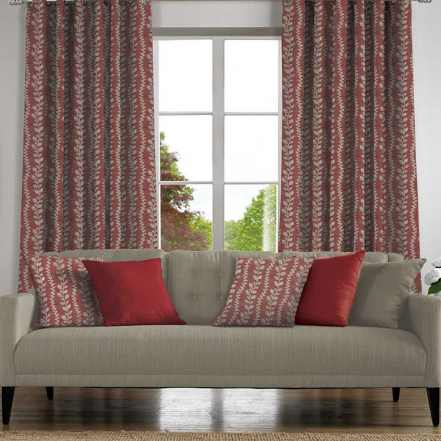 Tendril Blush Curtain