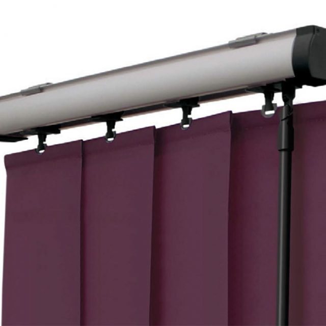 Brushed Steel vogue vertical blinds headrail