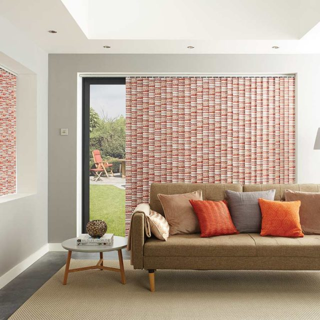 Cobbles Apricot vertical blinds