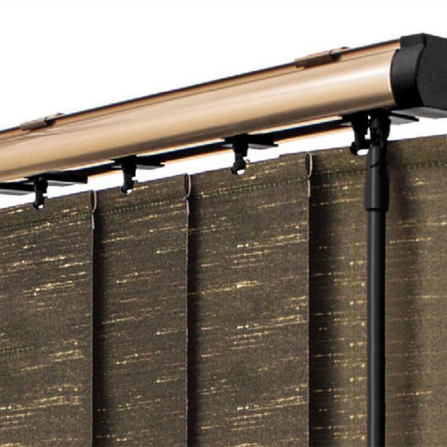 Champagne Gold vogue vertical blinds headrail
