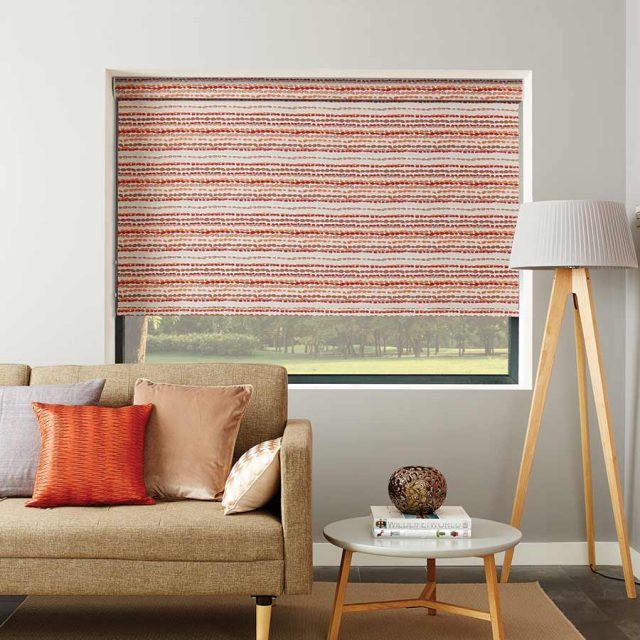 Cobbles Apricot roller blind