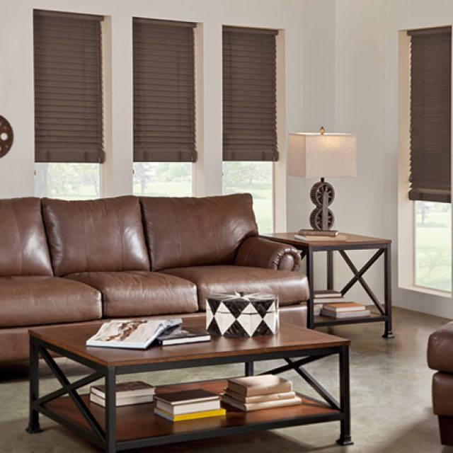 Walnut Faux wood blinds