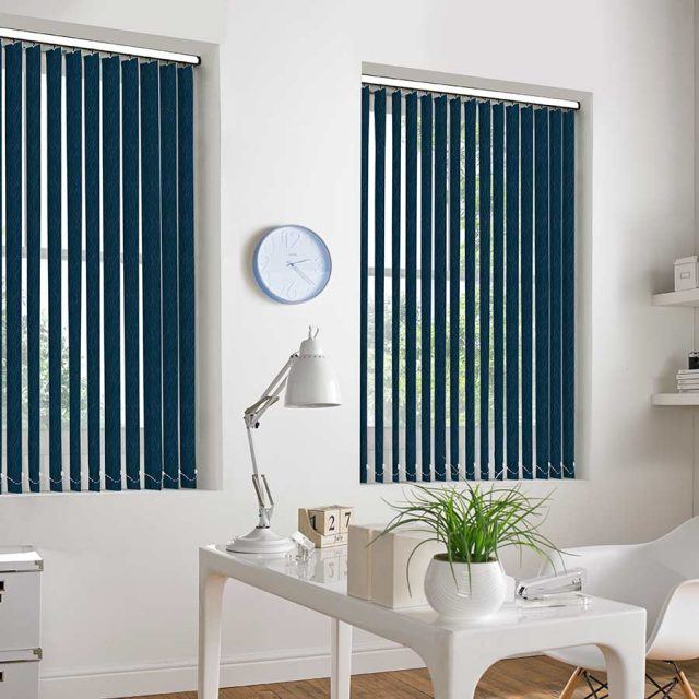Ferrara Midnight vertical blinds