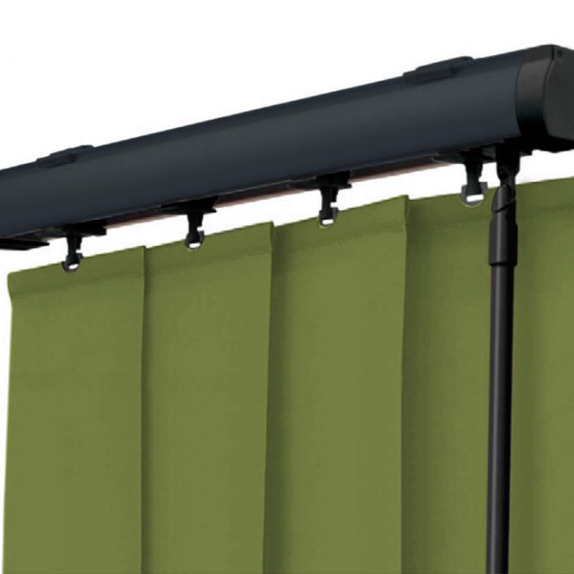 Graphite vogue vertical blinds headrail