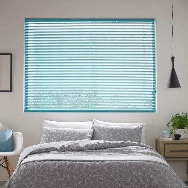 Madiba Teal aluminium venetian blinds