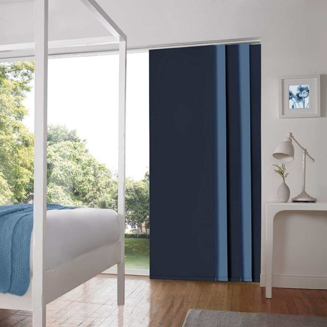 Porto Blue panel blinds