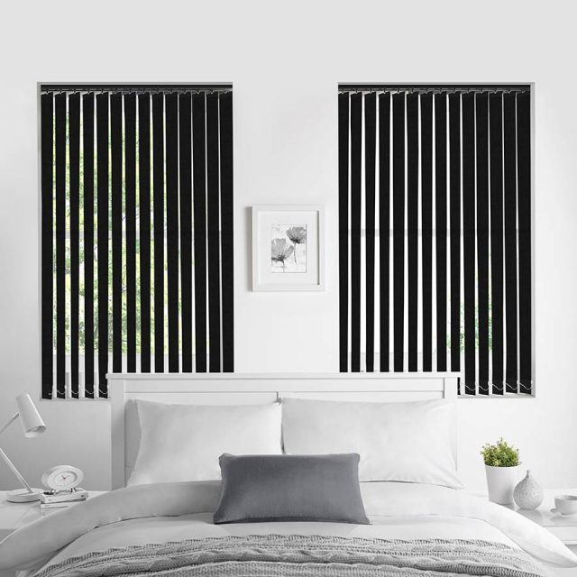Porto Black vertical blinds