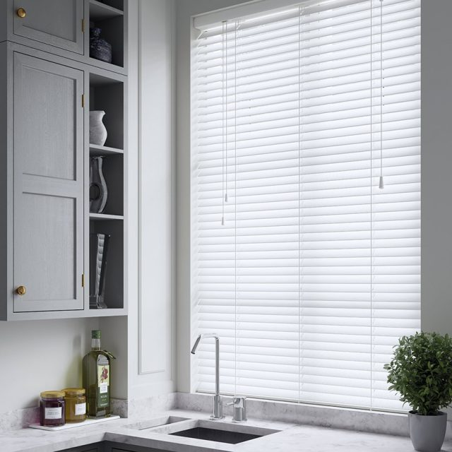 True Embossed wood blinds