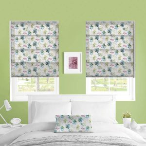 Watercolour Forest roman blinds