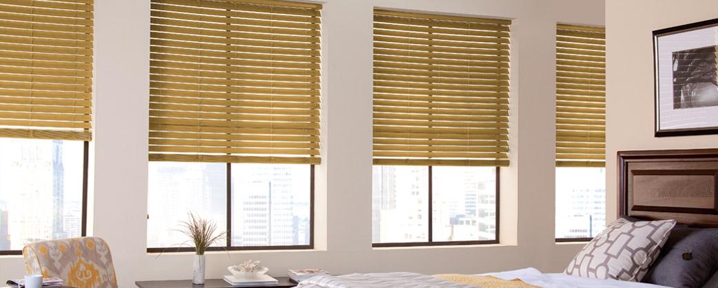 Oak Faux wood blinds