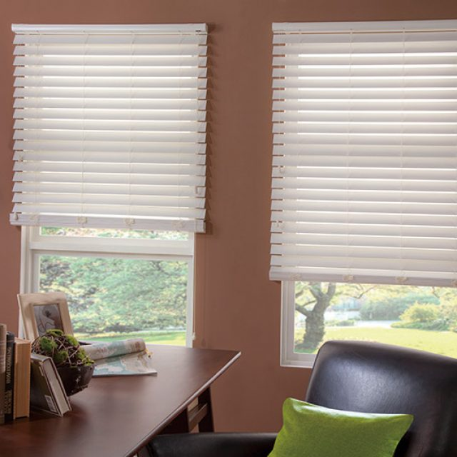 Snow White Faux wood blinds