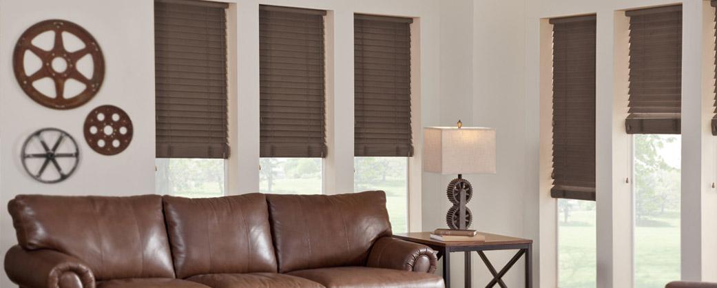 Walnut Faux wood blinds